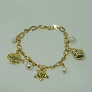 "Avon Sea Life Bracelet Size Small 7 1/2"" Length"